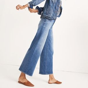 Madewell Wide-Leg Crop Jeans in Finney Wash 32